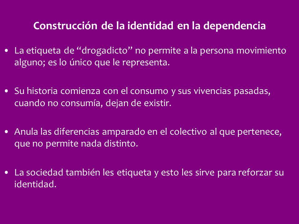 Construcción de la identidad en la dependencia