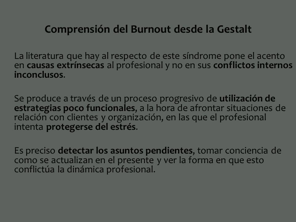 Comprensión del Burnout desde la Gestalt