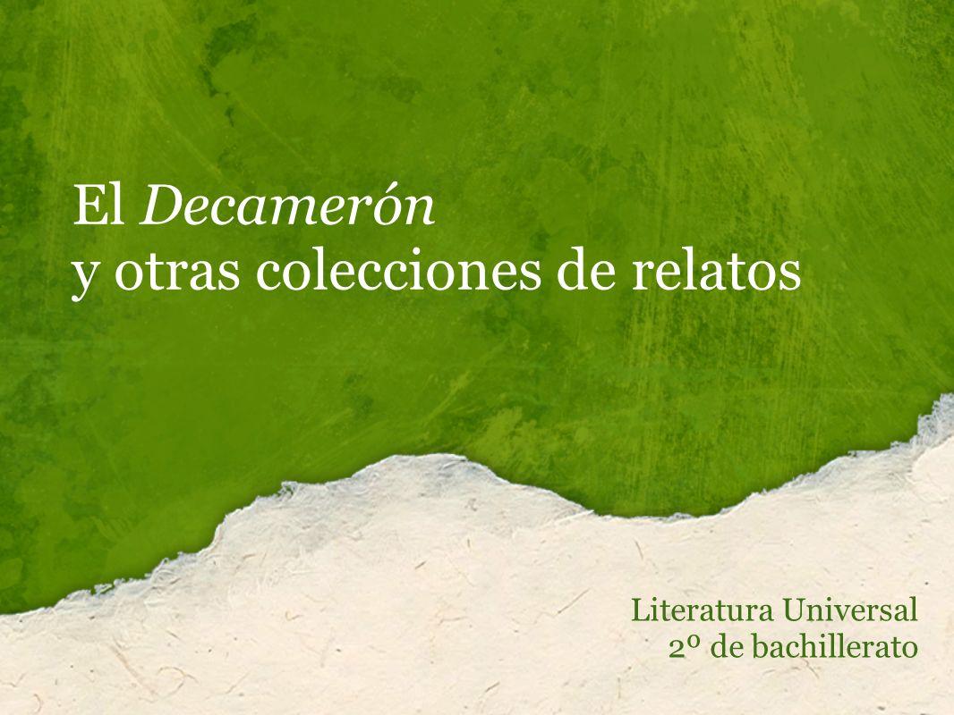 El Decamerón y otras colecciones de relatos