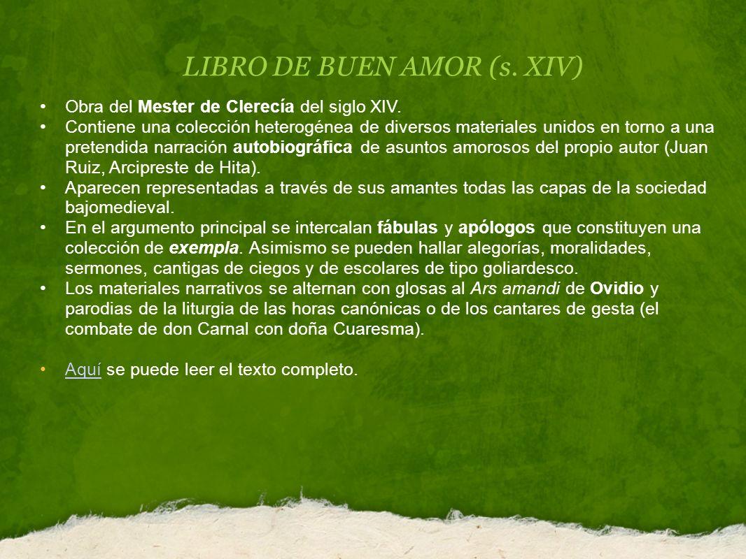 LIBRO DE BUEN AMOR (s. XIV)