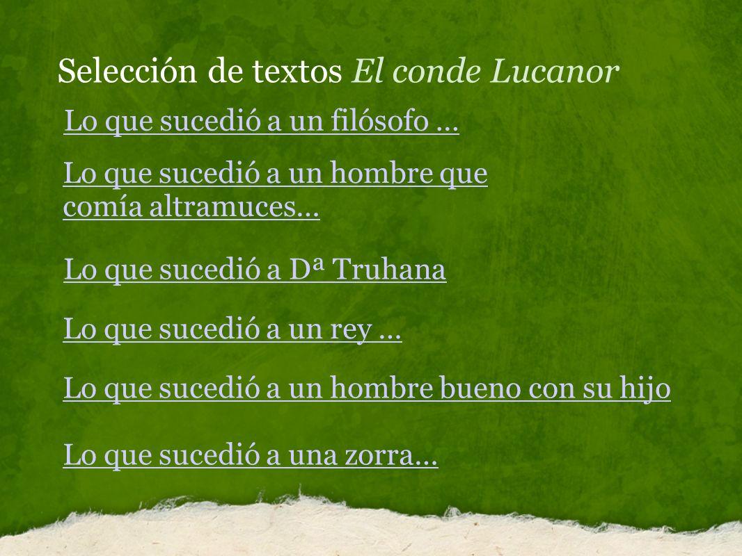 Selección de textos El conde Lucanor