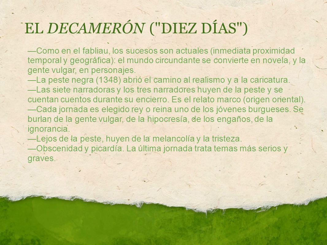 EL DECAMERÓN ( DIEZ DÍAS )