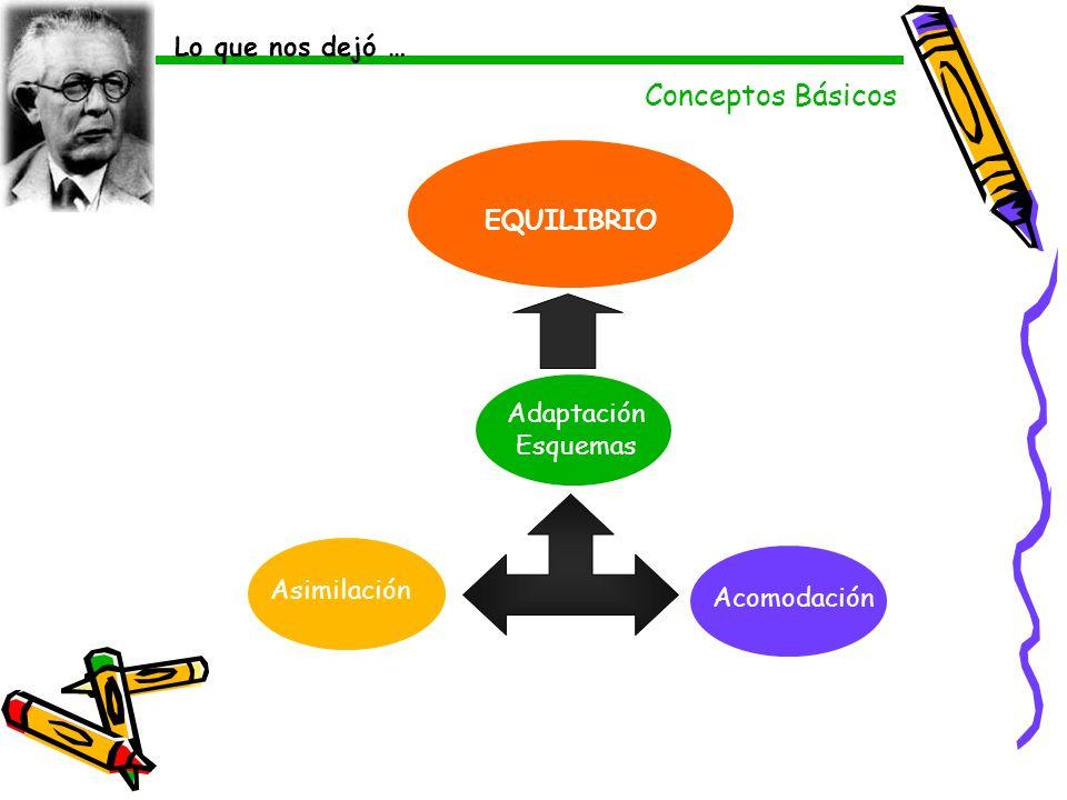 Conceptos Básicos Lo que nos dejó … EQUILIBRIO AdaptaciónEsquemas
