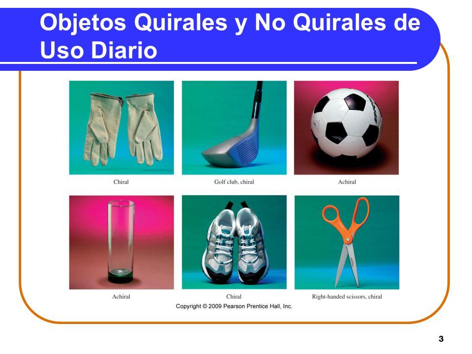 Objetos Quirales y No Quirales de Uso Diario