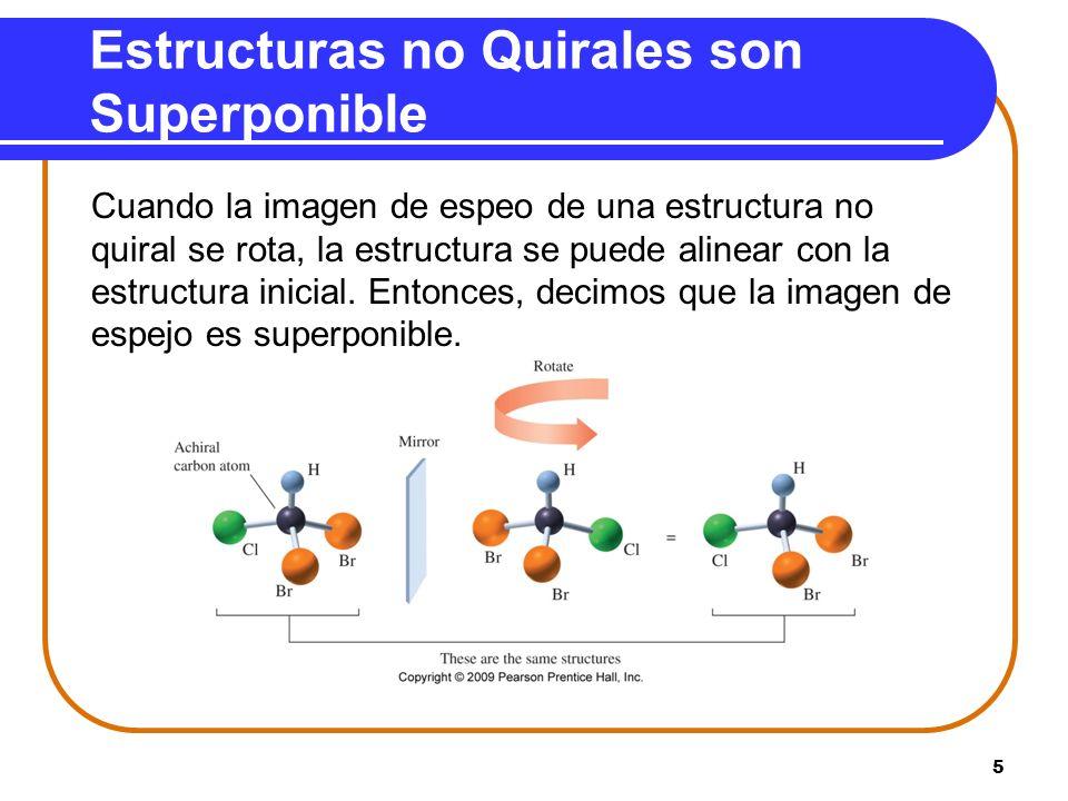 Estructuras no Quirales son Superponible
