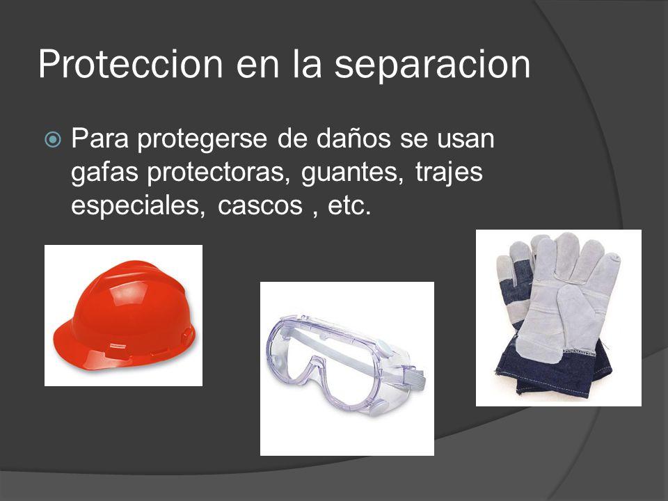 Proteccion en la separacion