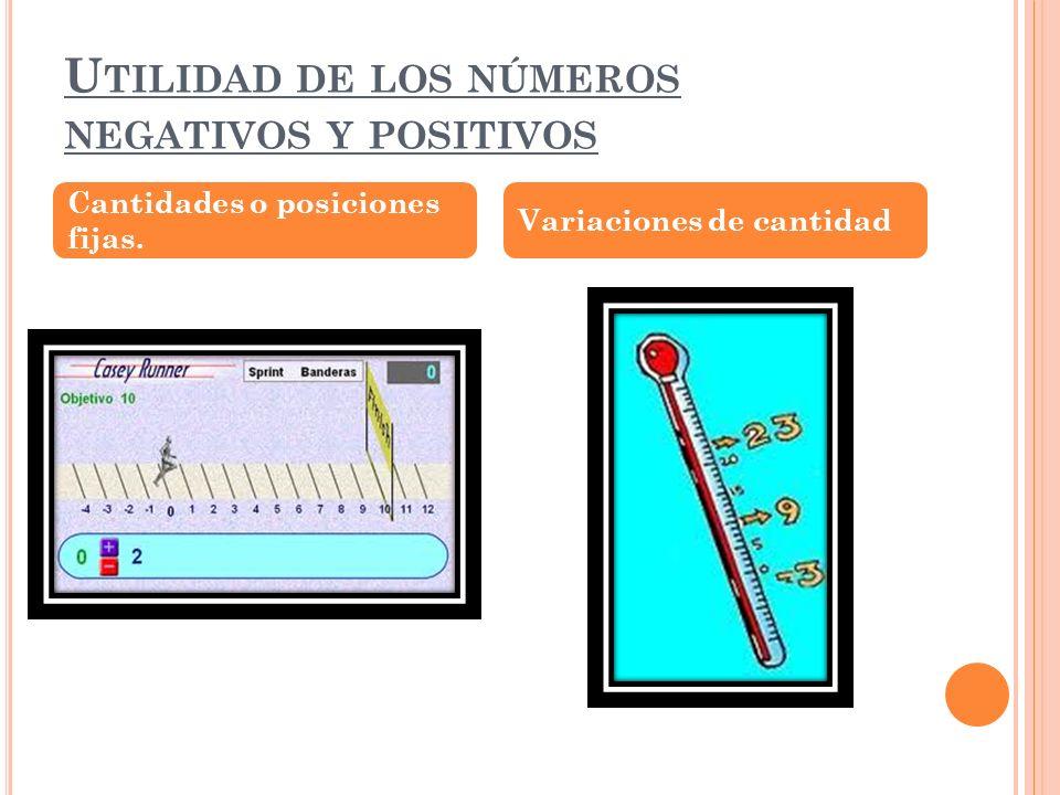 Utilidad de los números negativos y positivos