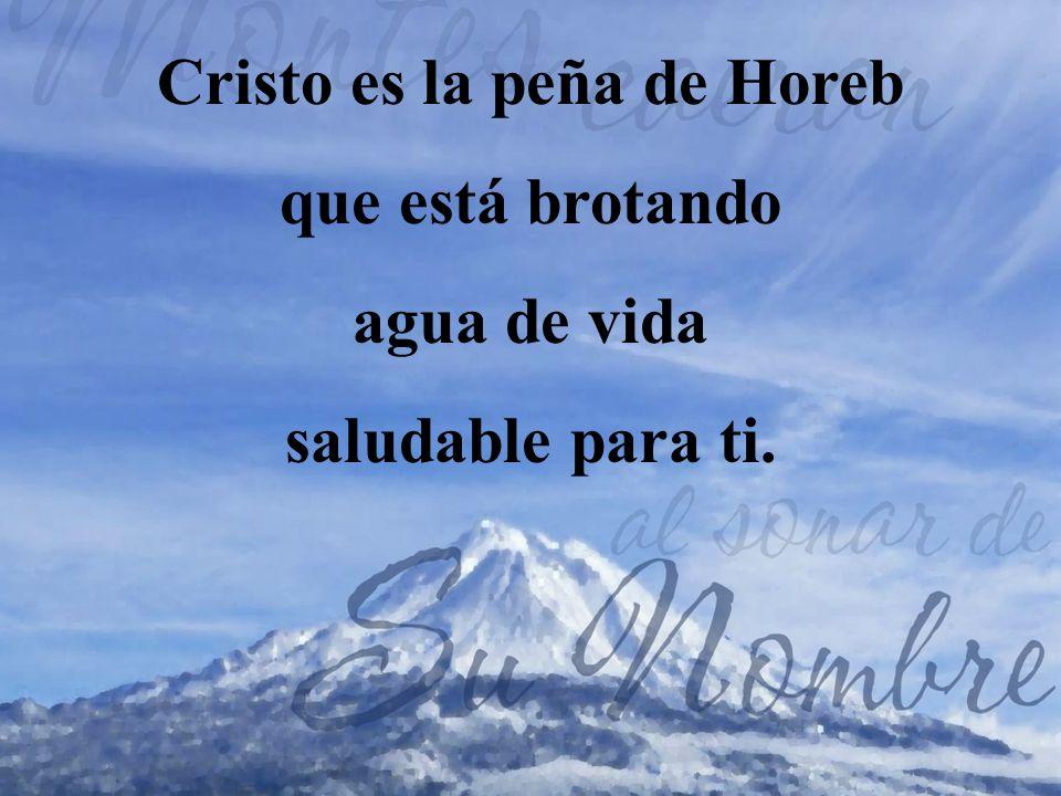 Cristo es la peña de Horeb