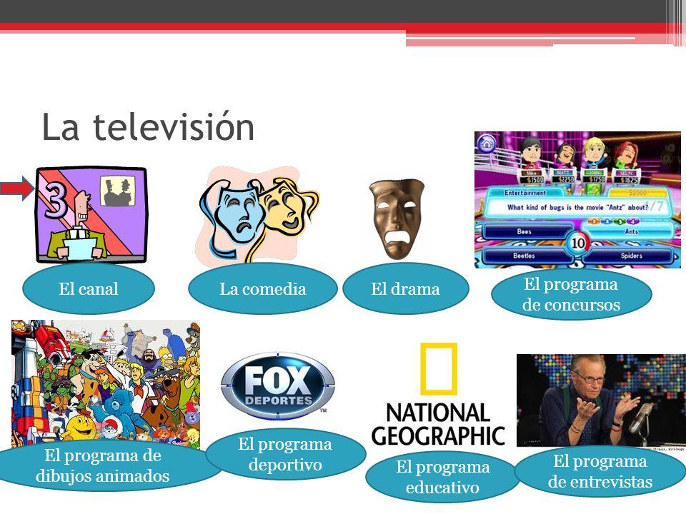 La televisión El canal La comedia El drama El programa de concursos