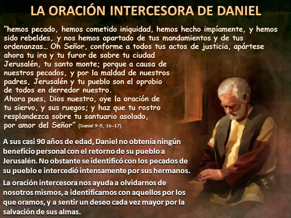 LA ORACIÓN INTERCESORA DE DANIEL