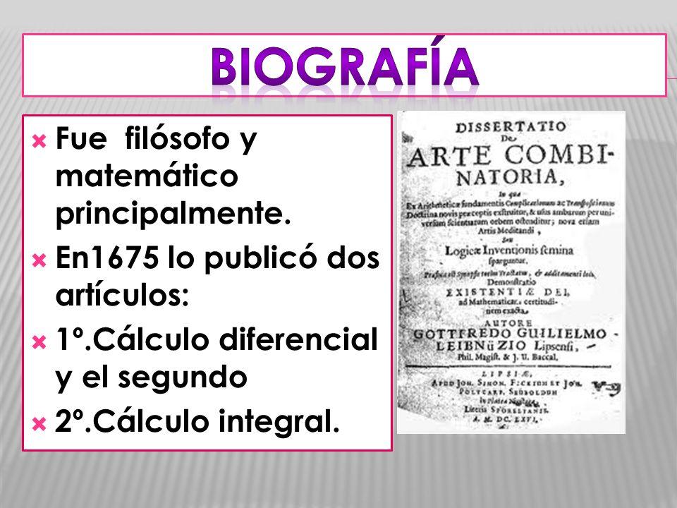 BIOGRAFÍA Fue filósofo y matemático principalmente.