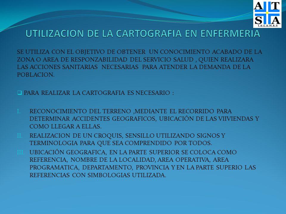 UTILIZACION DE LA CARTOGRAFIA EN ENFERMERIA