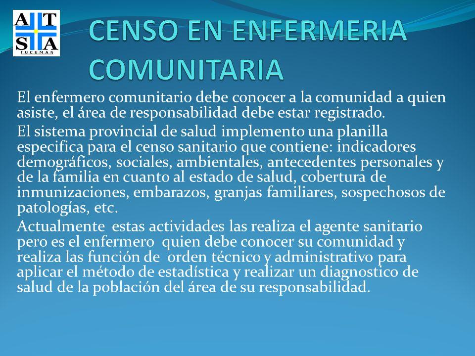 CENSO EN ENFERMERIA COMUNITARIA