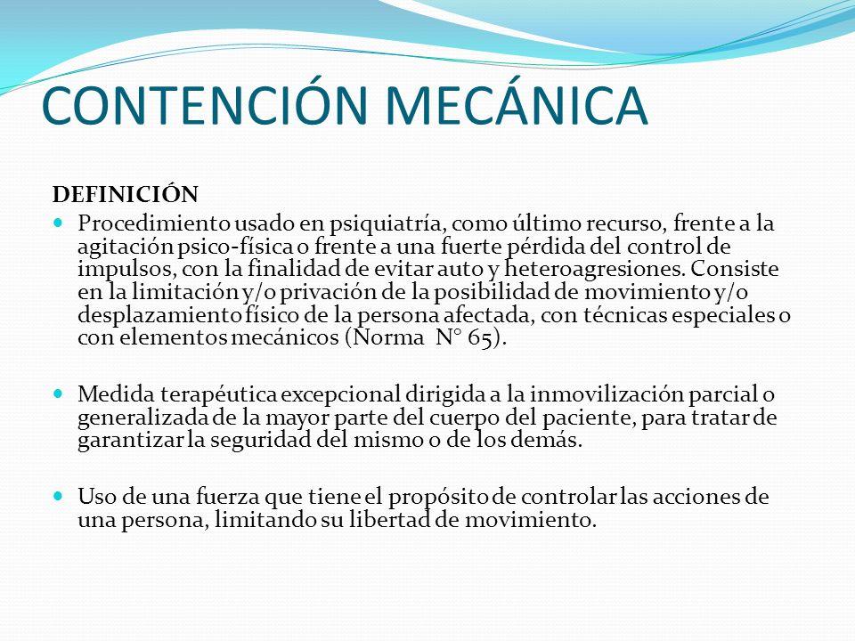 CONTENCIÓN MECÁNICA DEFINICIÓN