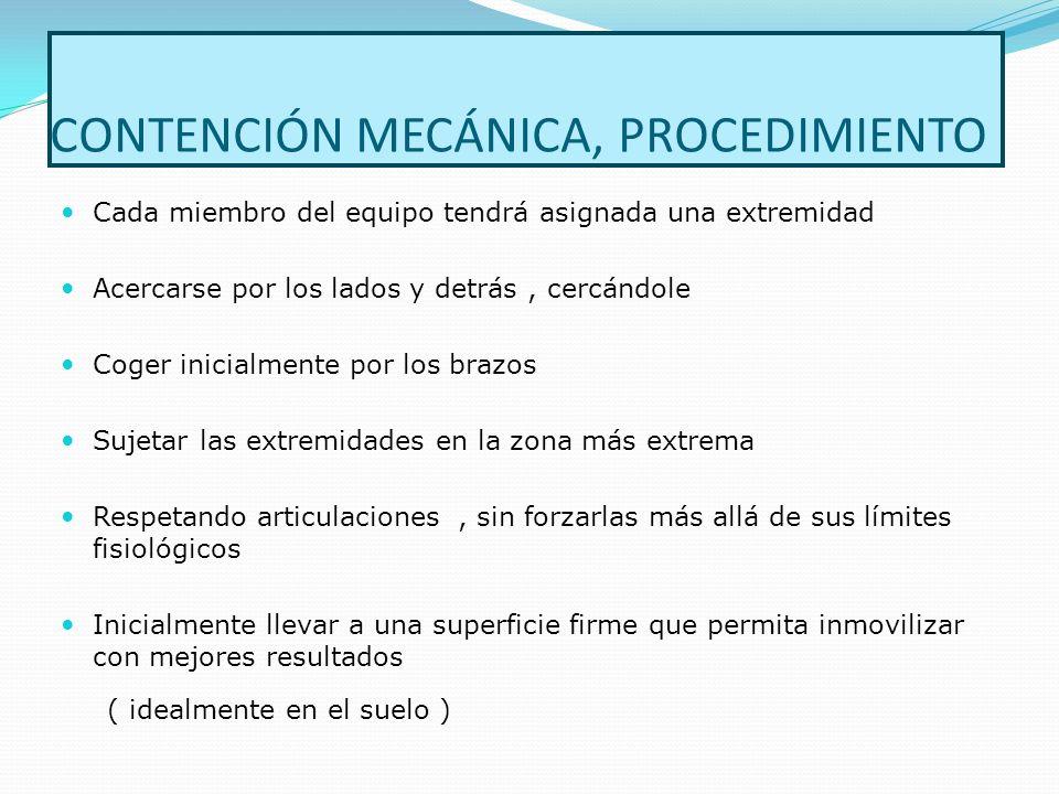 CONTENCIÓN MECÁNICA, PROCEDIMIENTO