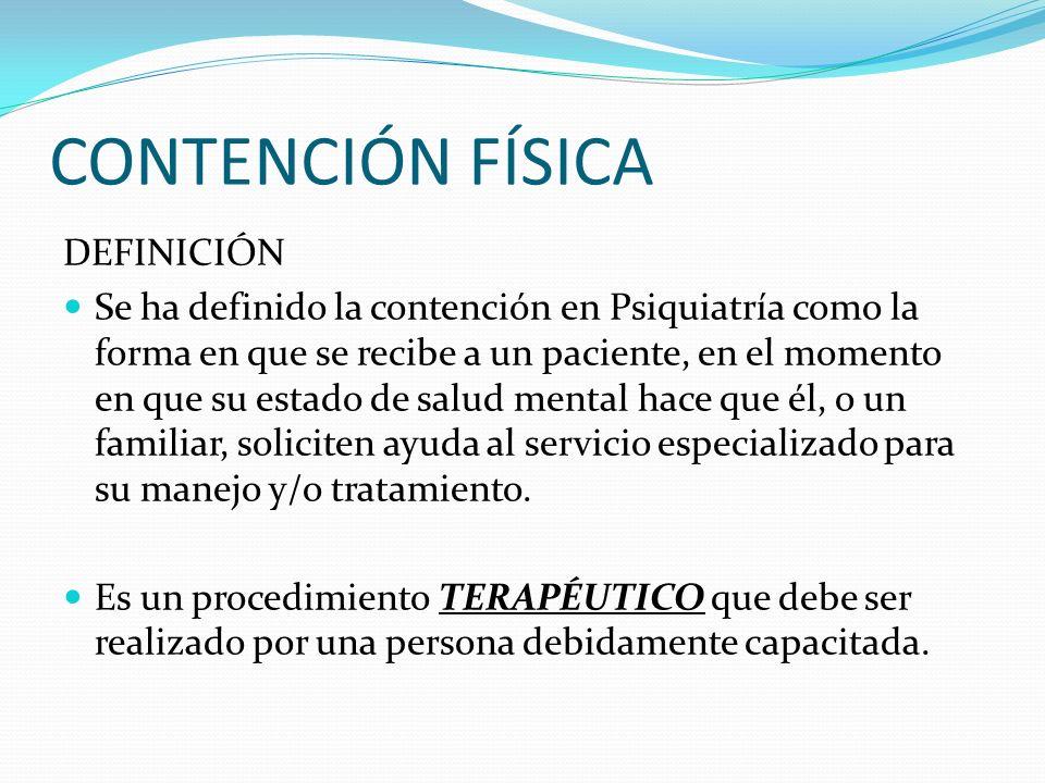 CONTENCIÓN FÍSICA DEFINICIÓN