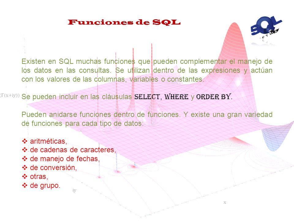 Funciones de SQL