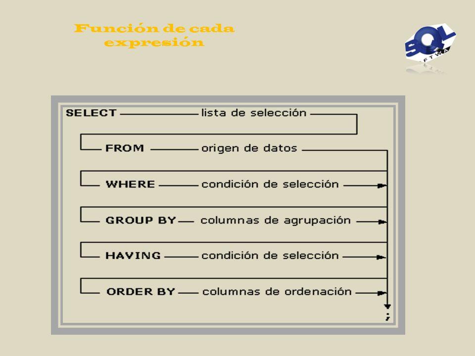 Función de cada expresión