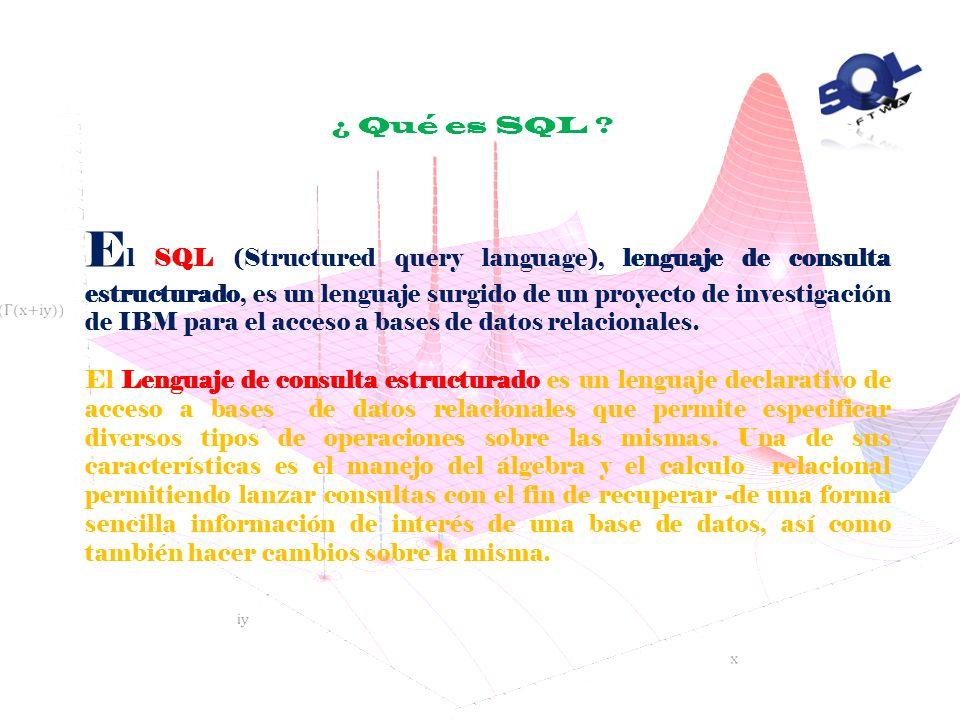 ¿ Qué es SQL