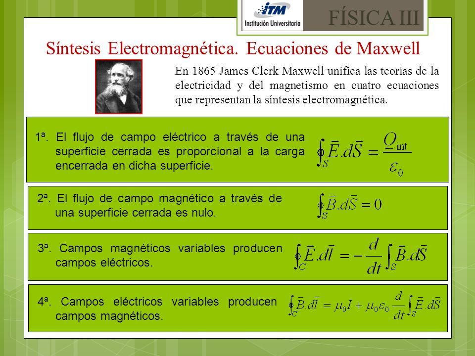 FÍSICA III Síntesis Electromagnética. Ecuaciones de Maxwell