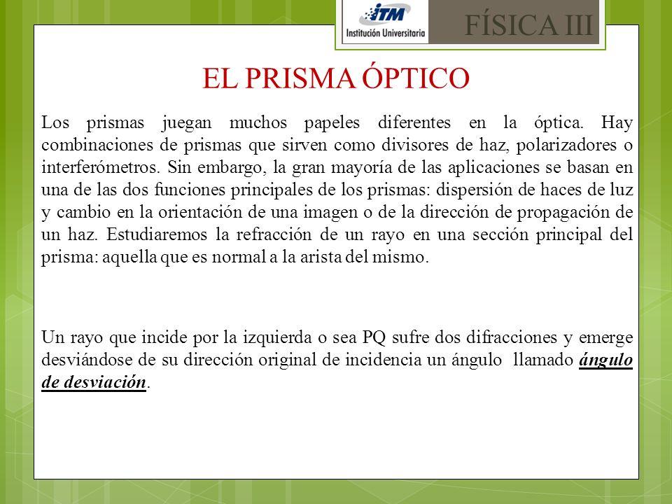 FÍSICA III EL PRISMA ÓPTICO