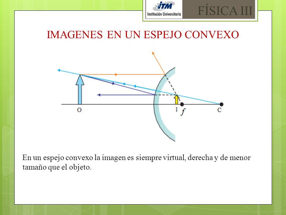 IMAGENES EN UN ESPEJO CONVEXO