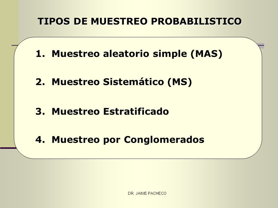 TIPOS DE MUESTREO PROBABILISTICO
