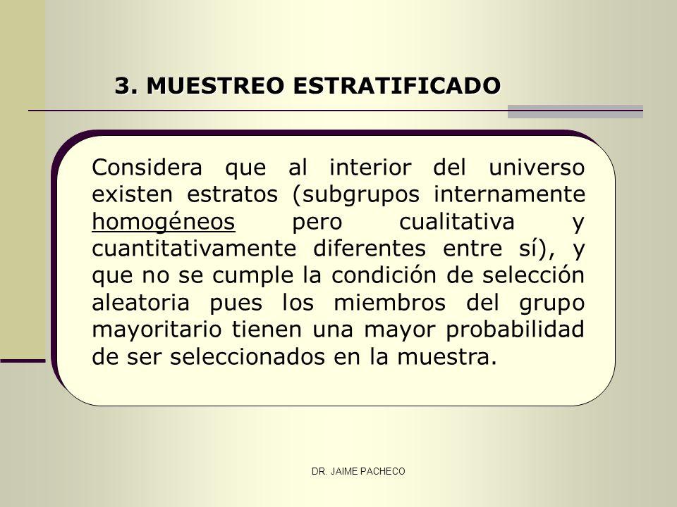 3. MUESTREO ESTRATIFICADO