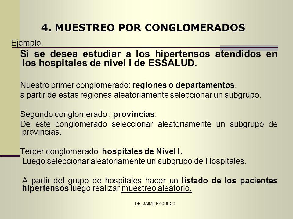 4. MUESTREO POR CONGLOMERADOS