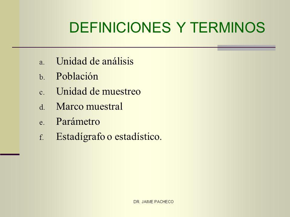 DEFINICIONES Y TERMINOS