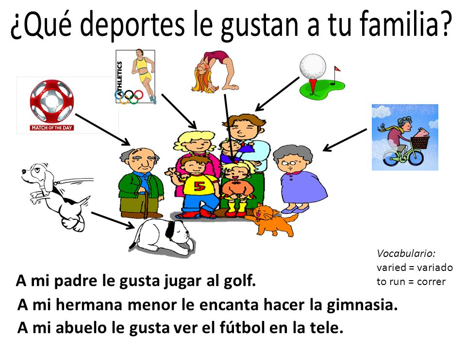 ¿Qué deportes le gustan a tu familia