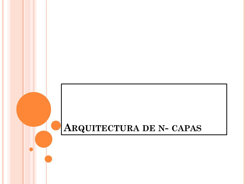 Arquitectura de n- capas