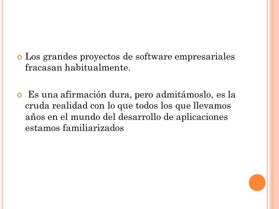 Los grandes proyectos de software empresariales fracasan habitualmente.