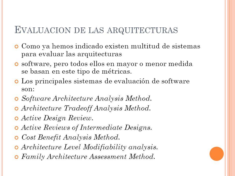 Evaluacion de las arquitecturas