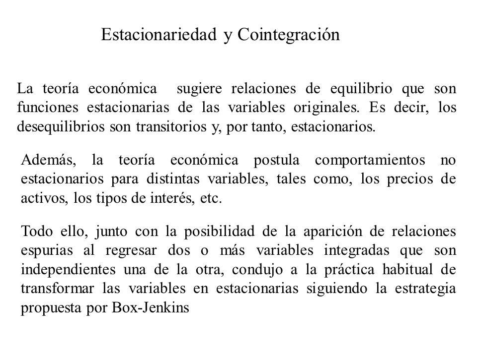 Estacionariedad y Cointegración