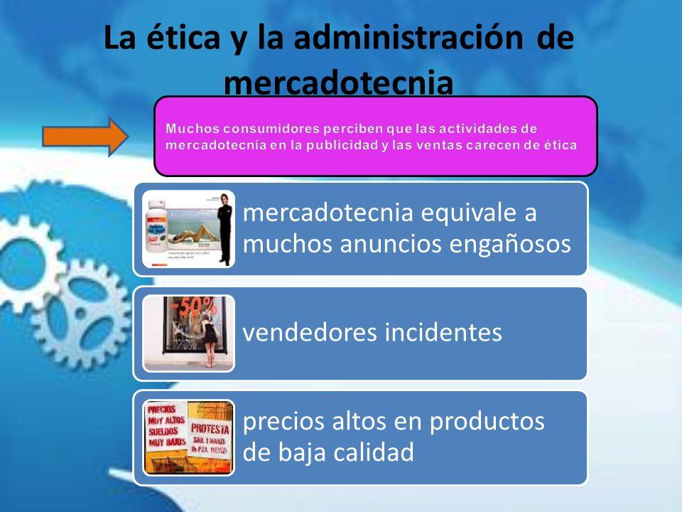 La ética y la administración de mercadotecnia