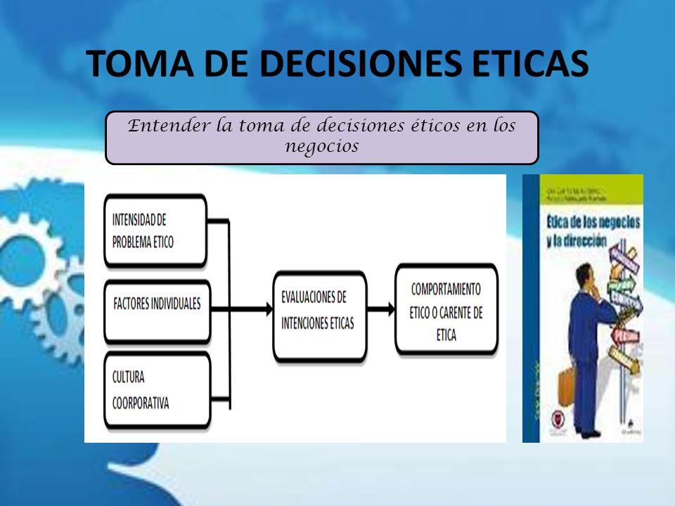 TOMA DE DECISIONES ETICAS
