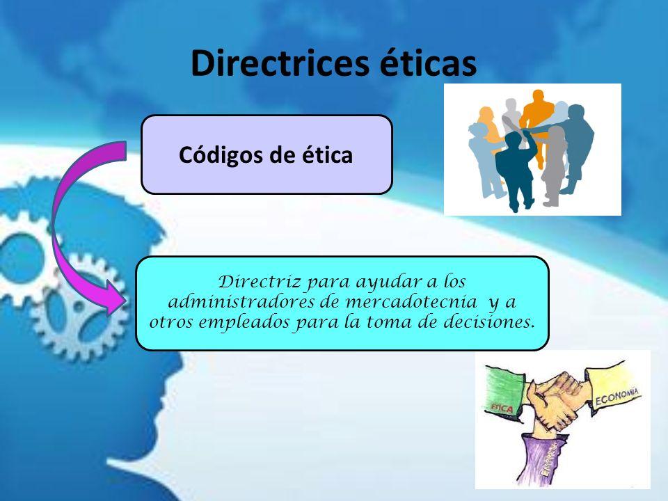 Directrices éticas Códigos de ética