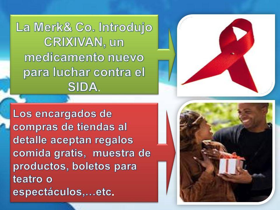 La Merk& Co. Introdujo CRIXIVAN, un medicamento nuevo para luchar contra el SIDA.