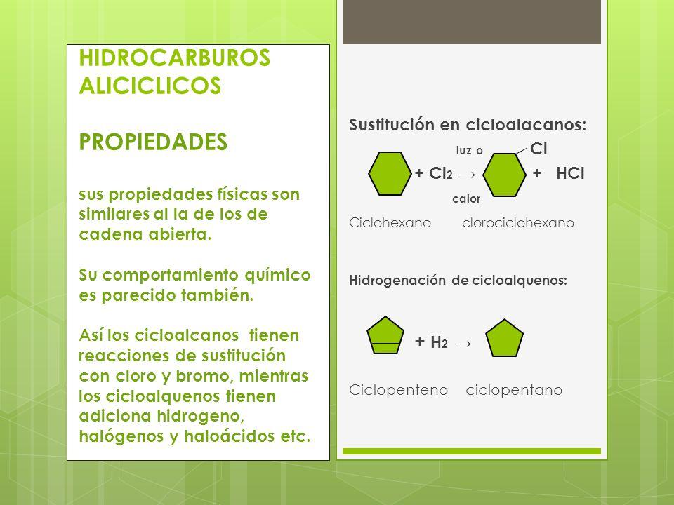 Sustitución en cicloalacanos: