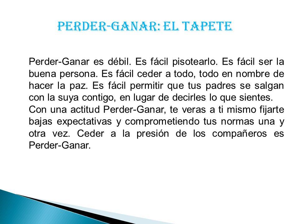 PERDER-GANAR: EL TAPETE