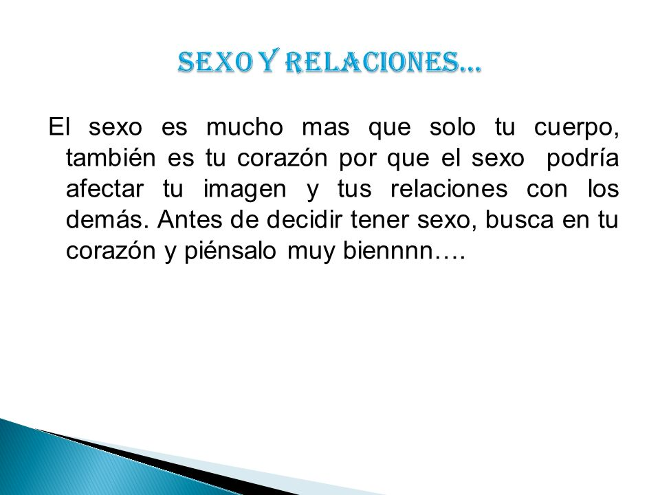 SEXO Y RELACIONES…