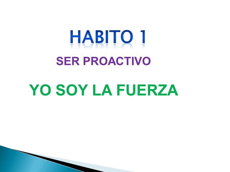 SER PROACTIVO YO SOY LA FUERZA HABITO 1