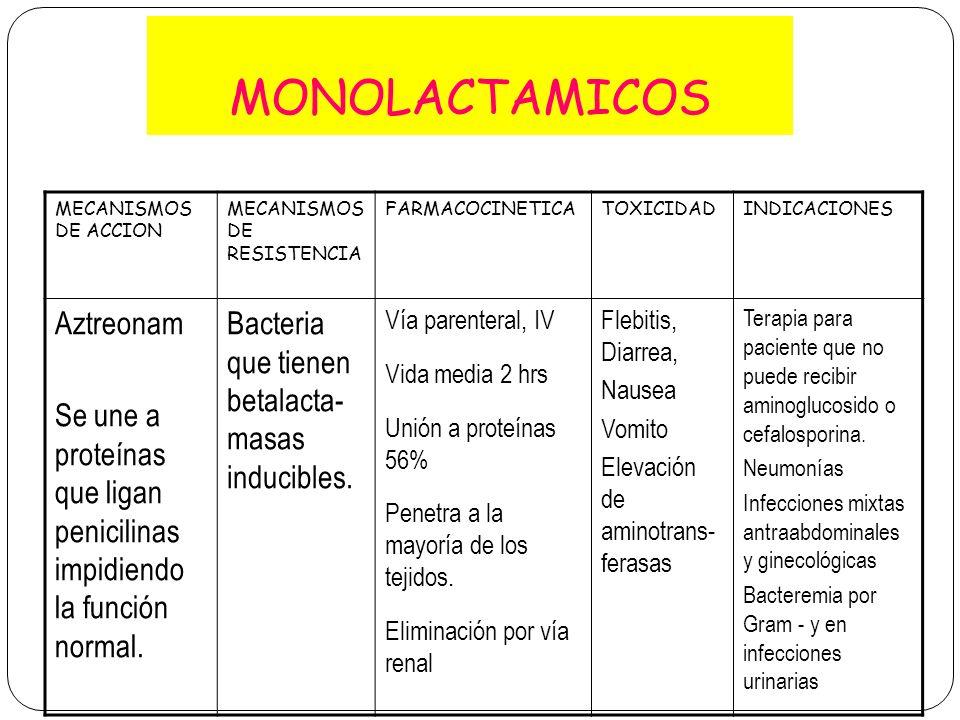 MONOLACTAMICOS Aztreonam