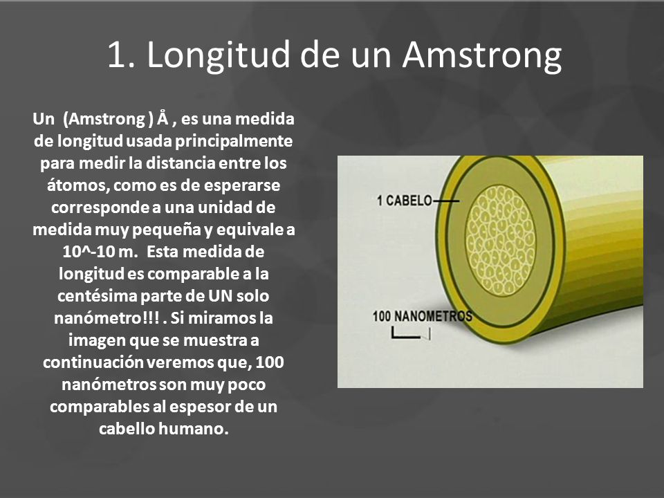 1. Longitud de un Amstrong