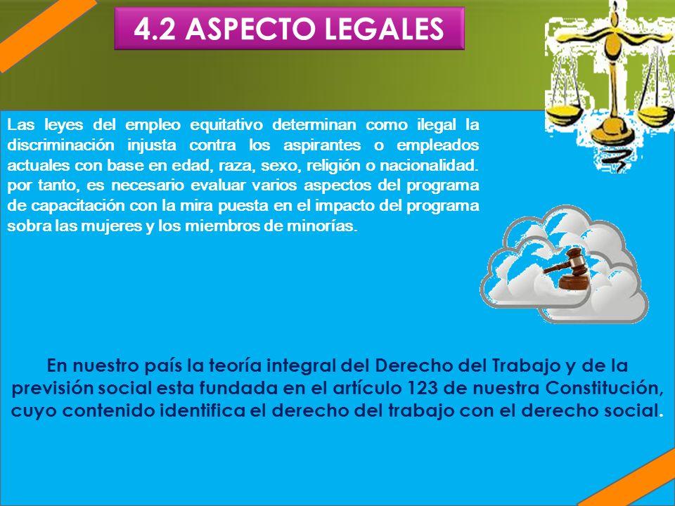 4.2 ASPECTO LEGALES