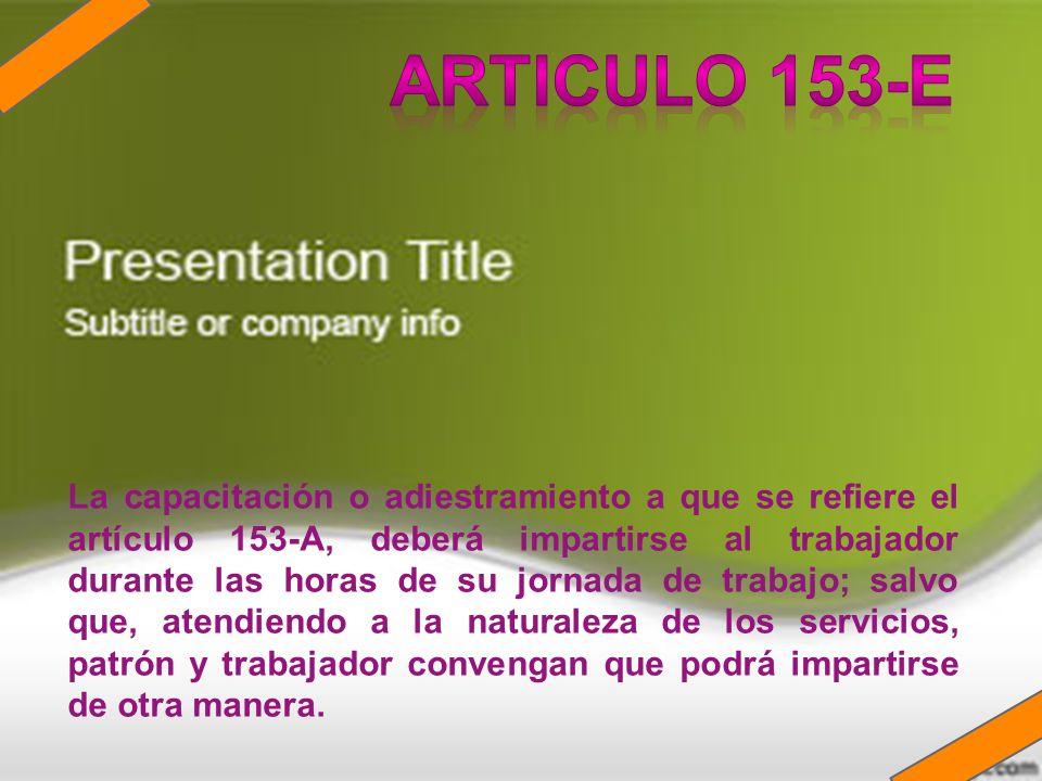 ARTICULO 153-E