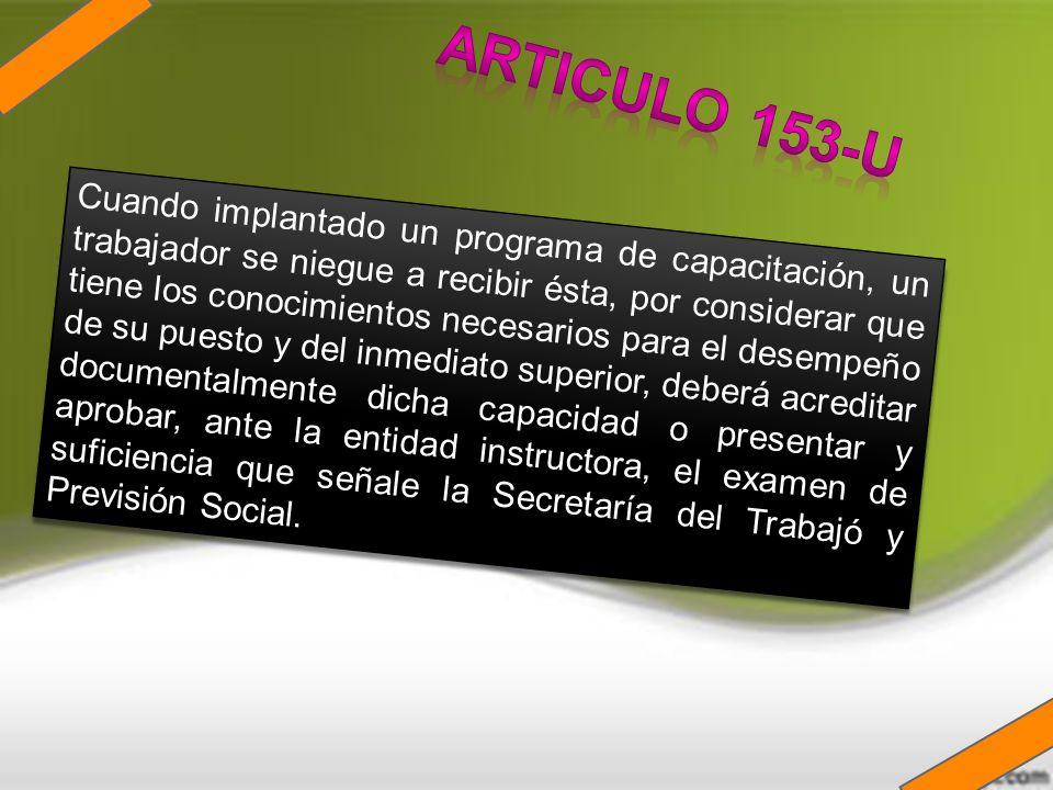 ARTICULO 153-U