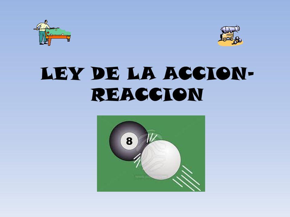 LEY DE LA ACCION-REACCION