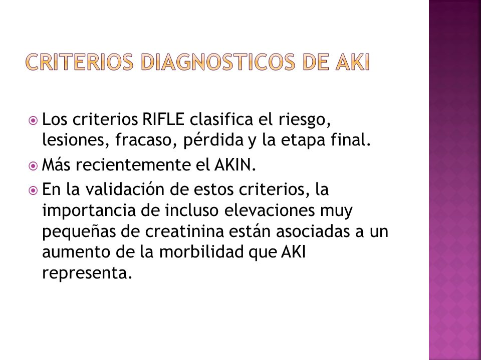 CRITERIOS DIAGNOSTICOS DE AKI
